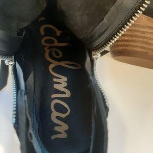 Sam Edelman Shoes - Sam Edelman Petty Black Suede Booties size 6